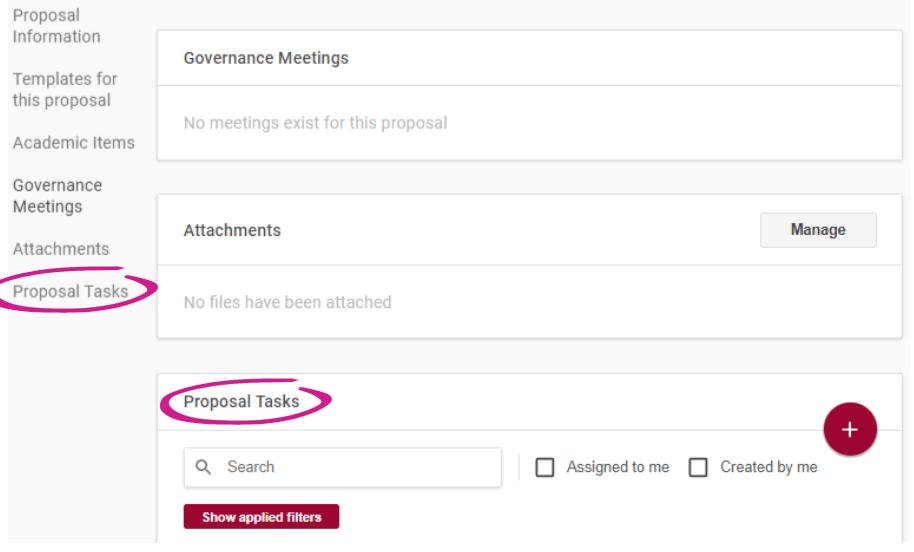 proposal tasks